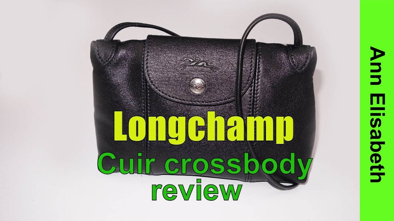 66209c7e7400 Longchamp Le Pliage Cuir Crossbody bag review - YouTube