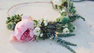 Венок на голову своими руками из живых цветов(, 2015-05-18T19:24:29.000Z)
