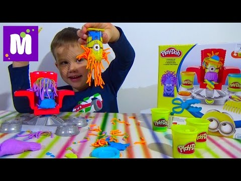 Миньоны набор пластилина распаковка Плейдо игрушки Minions Play-Doh set toys