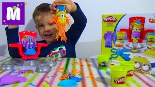 Миньоны набор пластилина распаковка Плейдо игрушки Minions Play-Doh set toys(Распаковка набора с игрушкой Плэй До Миньены пластилин тесто для лепки с игрушками у которых растут волосы..., 2015-09-15T15:20:07.000Z)