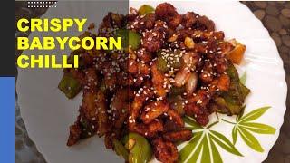 Crispy Baby Corn Chilli  Baby Corn Manchurian Recipe  Restaurant Style