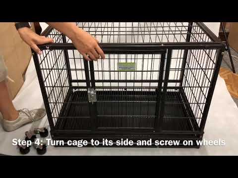 Assembly demonstration for VEBO Metal Tube Stackable Dog Cage