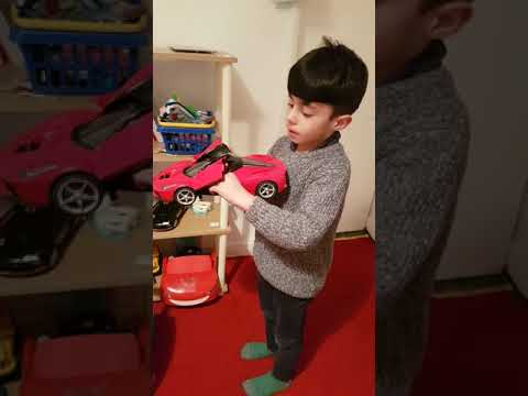 Little sales man selling his car... Zain with his excellent selling skills