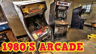 Abandoned Juvenile Hall Found 1980's Arcade Games
