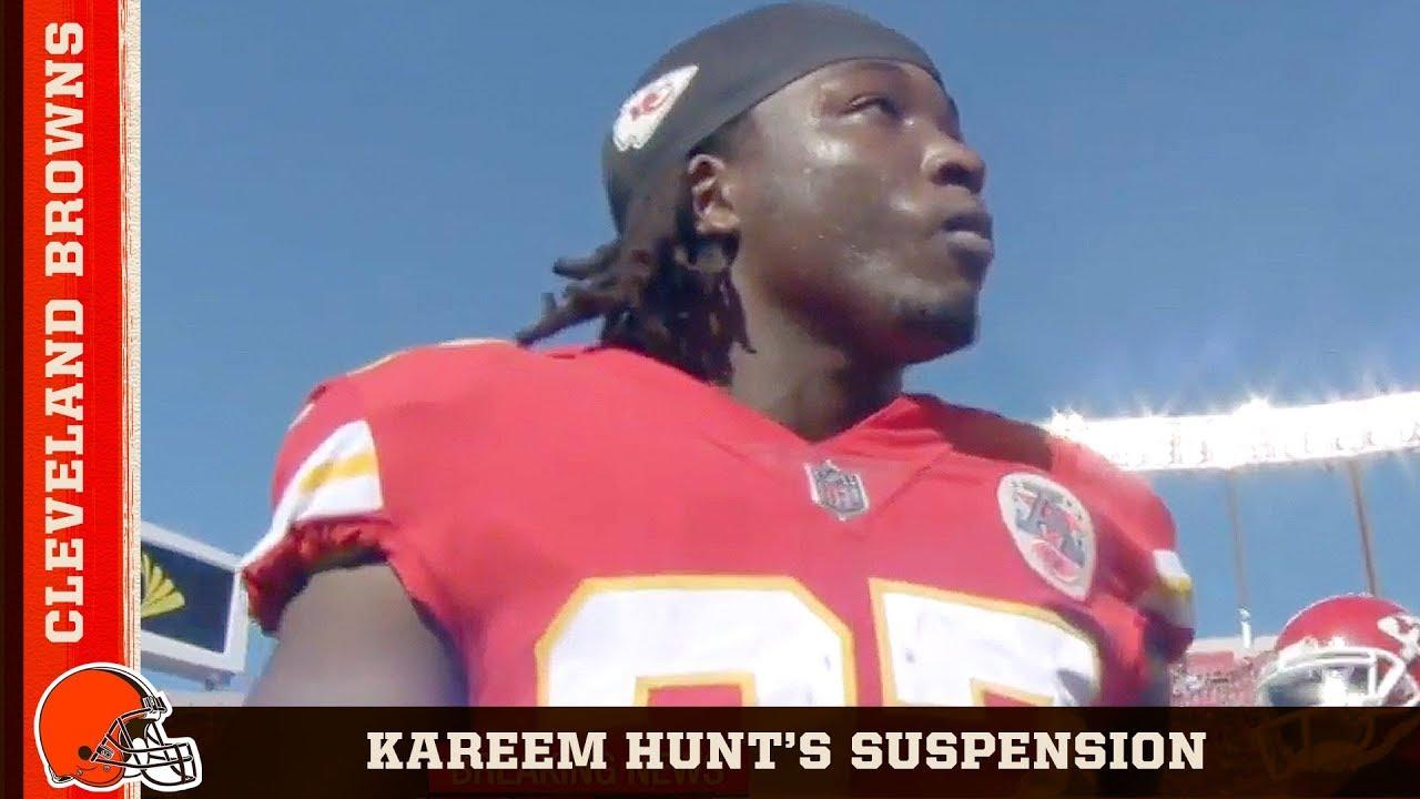 NFL suspends Browns running back Kareem Hunt for eight games