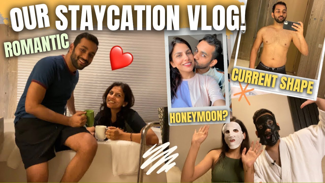 OUR FIRST VACATION AFTER MARRIAGE | Our *Short* Romantic Honeymoon Vlog | Staycation | ANKIT TV