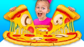 Pizza Song + More Nursery Rhymes & Kids Songs | Maya and Mary
