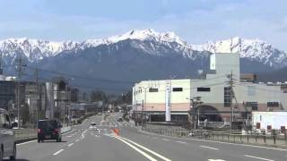 NORTHERN JAPAN ALPS MOUNTAIN RANGE (APRIL 20 , 2016)