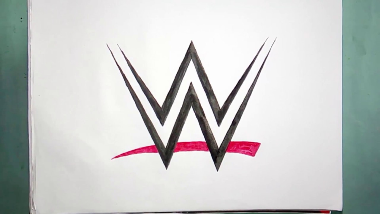 How to draw the WWE logo (logo drawing)