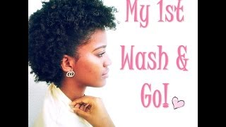 My First Wash & Go! ♡ || Natural Hair