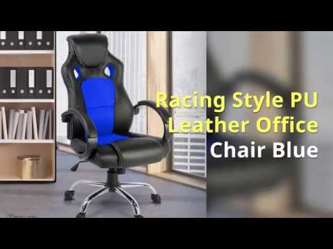 Racing Style PU Leather Office Chair | Afterpay | Zippay | Oxipay Available