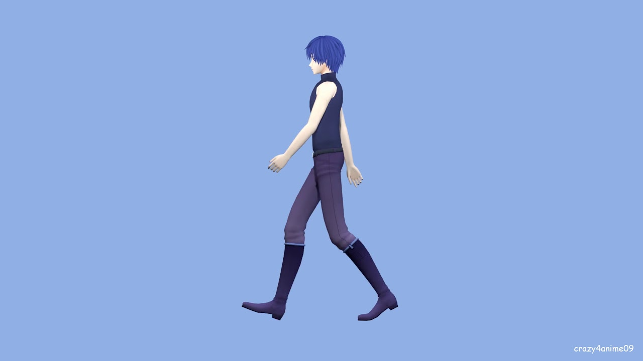 MMD in Blender: Walk Cycle Animation Practice