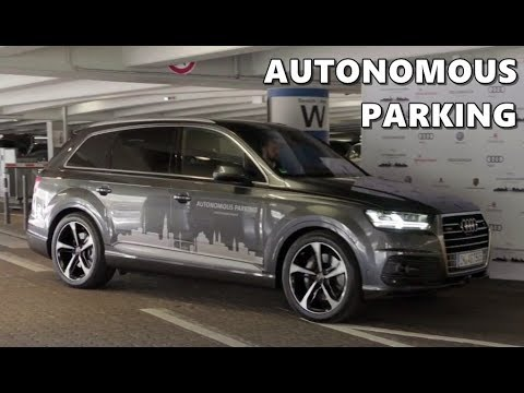 Audi Autonomous Parking Demo at Ham­burg Air­port