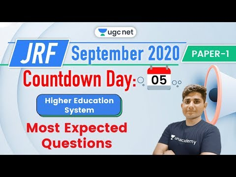 08:00 AM - JRF UGC NET Paper 1 | Higher Education System by Shiv Meena | Most Expected Questions from YouTube · Duration:  31 minutes 30 seconds