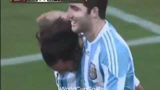 argentina 4 1 espaa todos los goles partido amistoso all goals 07 09 10