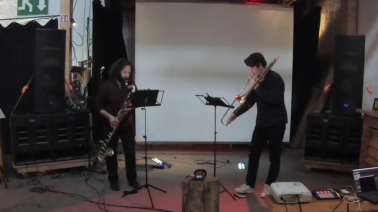 Petrichor for bass clarinet and trombone, Thanos Chrysakis / Jason Alder, Christian T. Larsen