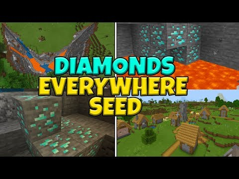 (Diamonds Everywhere) This Seed Is GLITCHED On Minecraft Bedrock Edition (PE, Xbox, Switch, Windows)