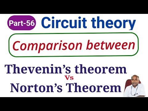 Thevenins Theorem And Norton Theorem In Tamil