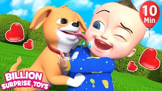 Little Pet with Crunchy & Soft Things + More Kids Songs | Billion Surprise Toys