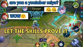 LET THE SKILLS PROVE IT | KILLING ENEMY IN BASE | MOBILE LEGENDS