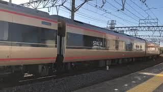 東武鉄道100系106F編成(南栗橋車両管区春日部支所)と101F編成(南栗橋車両管区春日部支所)。
