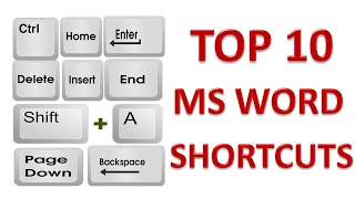TOP 10 MS Word Most Useful Shortcuts  | TOP 10 Microsoft Word Shortcut Keys