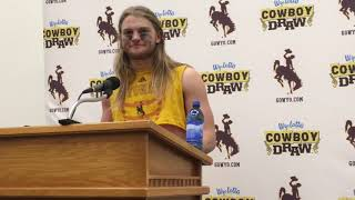 Wyoming's Andrew Wingard talks Air Force win, moving up Mountain West's all-time tackles list