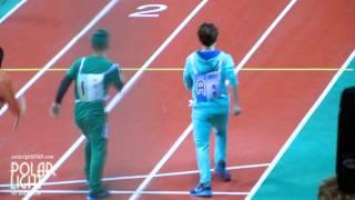 [POLAR LIGHT]130128 Idol Star Athletic Championships BAEKHYUN racewalking semi-final!