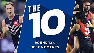 Fence-jumpers and pocket pearlers | The 10 best moments | Round 13, 2019 | AFL