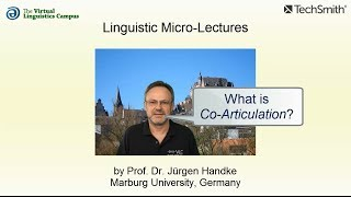 Linguistic Micro-Lectures: Co-Articulation
