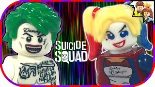 Custom LEGO Suicide Squad Joker & Harley Quinn Minifigures