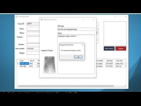 FINGERPRINT BIOMETRIC CRIMINAL IDENTIFICATION SYSTEM C# .NET SOURCE CODE