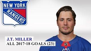 J.T. Miller (#10) All 23 Goals of the 2017-18 NHL Season