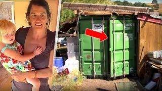 سخروا منها لأنها تعيش في حاوية نفايات ومعها 4 أطفال   ولكن ما وجدوه بالداخل أدهش الجميع !