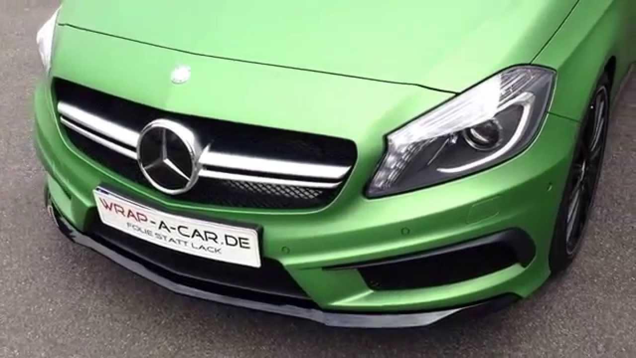 Mercedes Benz A45 Amg A Klasse Folierung Foliert In Grun Matt