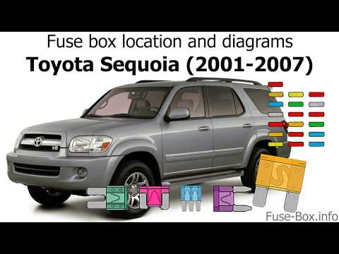 [ZSVE_7041]  Fuse box location and diagrams: Toyota Sequoia (2001-2007) - YouTube | 2007 Sequoia Fuse Box |  | YouTube