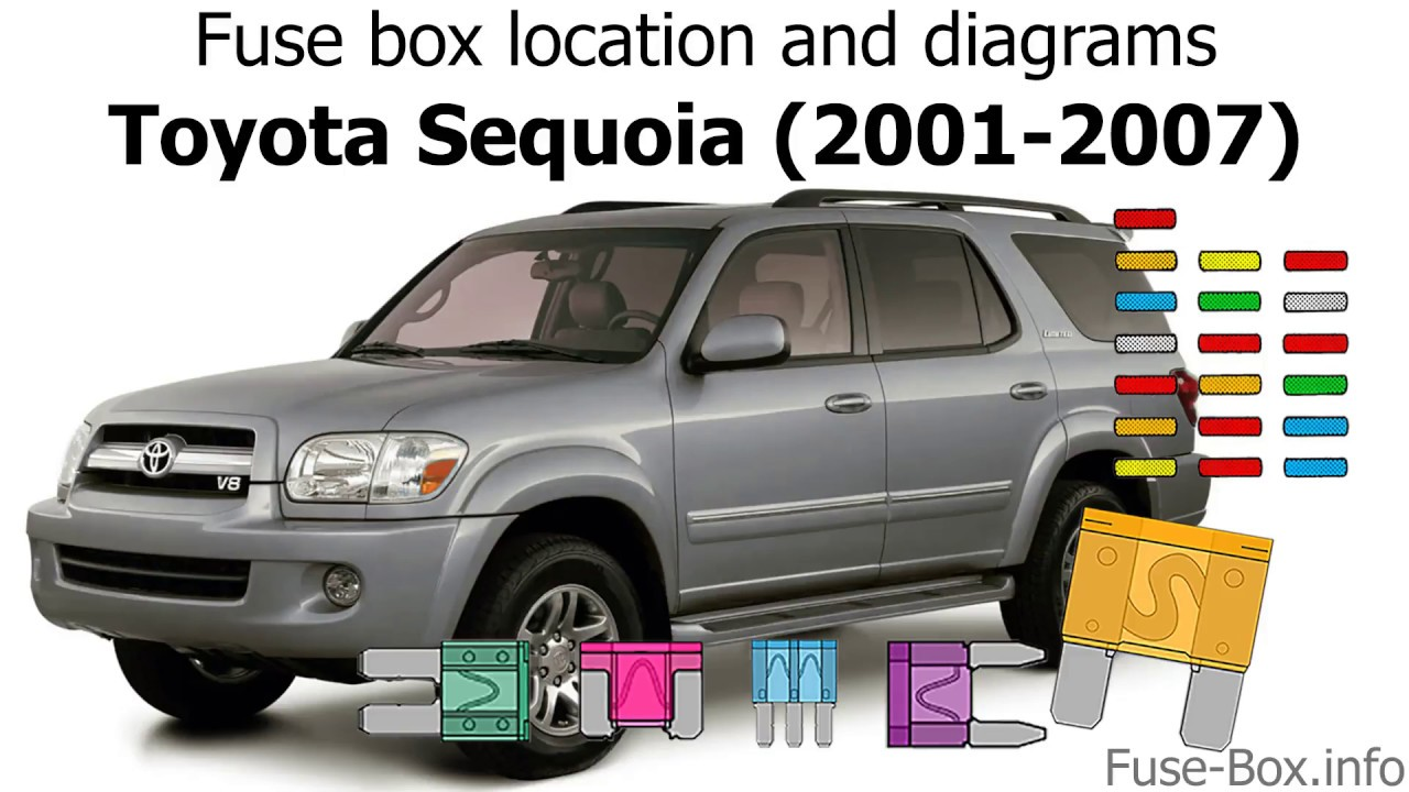 fuse box location and diagrams: toyota sequoia (2001-2007) - youtube  youtube