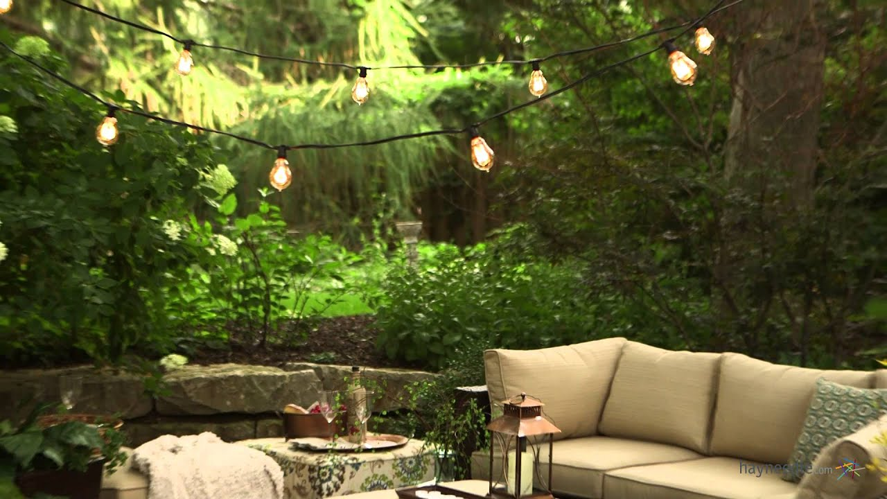 Bulbrite Outdoor String Light with Vintage Edison Bulbs ...