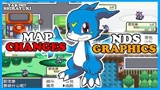 Completed Digimon Grey gba hack rom map changes, NDS style graphics and more!