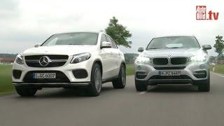Mercedes GLE Coupé vs. BMW X6 - Dickschiffe im Vergleich (2015)(, 2015-07-10T06:30:01.000Z)