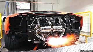 Lamborghini Aventador with Capristo AMAZING Flames on Dyno!