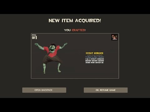 TF2 - How to craft a SCOUT GORLOCK