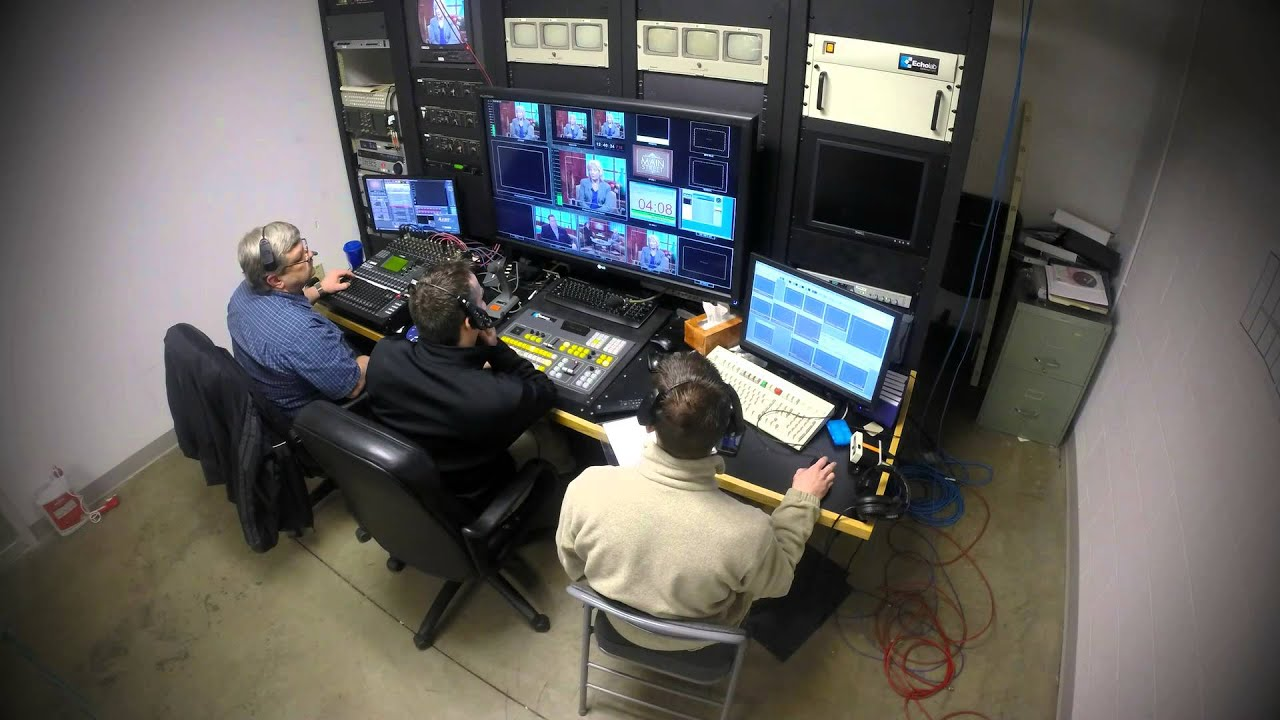 Tv Control Room Time Lapse Of Production Control During
