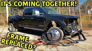 Download Rebuilding A Wrecked 2019 Ford F-450 Platinum Part 5 Mp3 and Videos