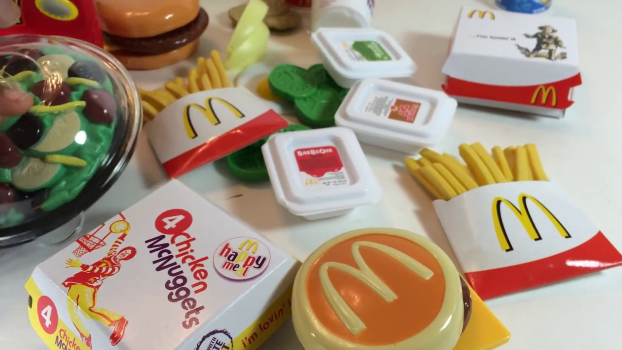 Huge Deluxe Mealtime McDonald's Play Set with 50 Pieces ...