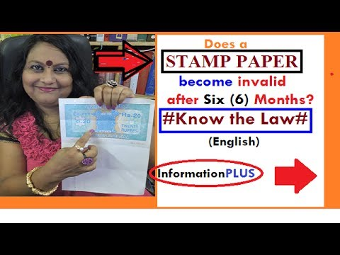 """Does a """"Stamp Paper""""become invalid after 6(six) months of it purchase?#KnowTheLaw#(English)"""