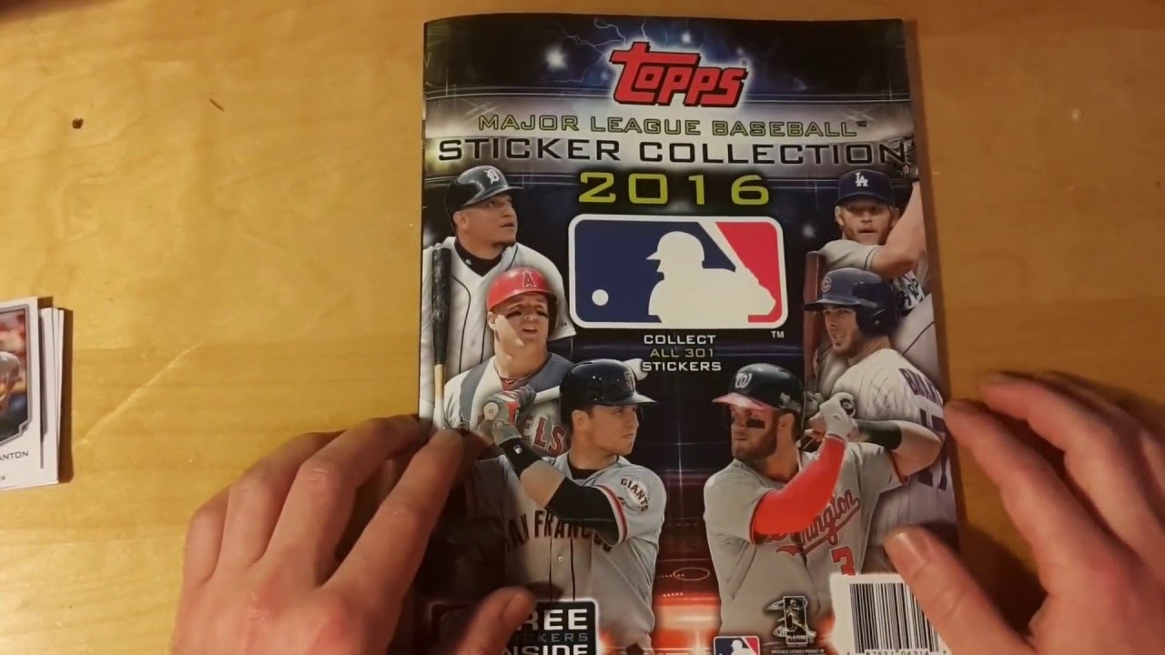 48f3b5995c1 Topps 2016 MLB Baseball Sticker Collection 100% Complete + Pack Opening +  Review