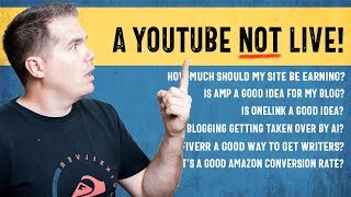 Your Niche Site Questions - In a Youtube NOT Live!