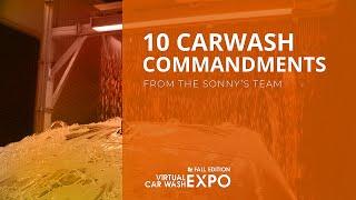 Ten CarWash Commandments