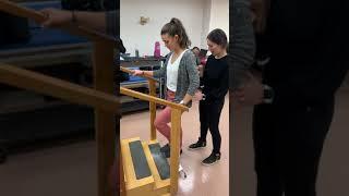 Quad cane stair negotiation